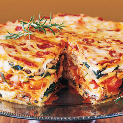 Mile-High Meatless Lasagna Pie