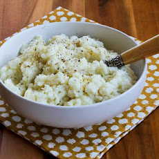 Pureed Cauliflower Recipe with Garlic, Parmesan, and Goat Cheese (Plus 10 More Yummy Cauliflower Ideas!)
