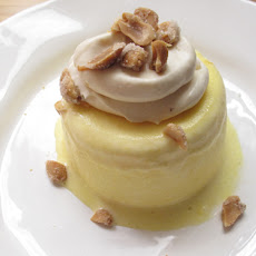 Sweet Corn Semifreddo, Salted Caramel Cream, Candied Peanuts