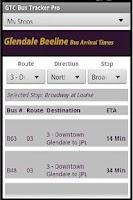Screenshot of GlenDale Beeline Bus Times Pro