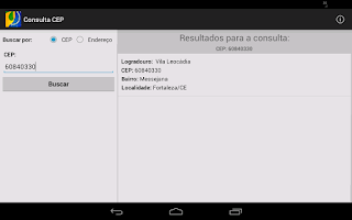 Screenshot of Consulta CEP