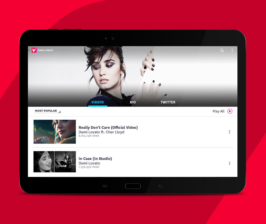 Vevo - Sehen Sie HD Musikvideos android apps download