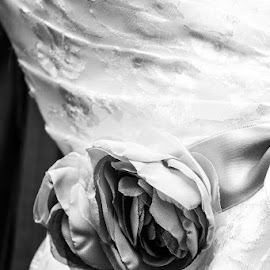 Untitled by Ashley Boutin - Wedding Details ( wedding photography, black and white, wedding, wedding dress, wedding details )