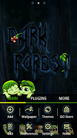 Screenshot of Dark Forest GO Launcher Theme