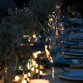 Dinner by Candle light by Werner Booysen - Wedding Details ( dinner, wedding photography, candlelight, wedding, zambia, candle light, wedding photographer, wedding details, werner booysen )