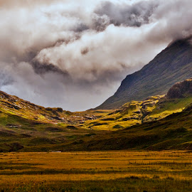 Glen Coe by Martin Davis - Landscapes Mountains & Hills ( clouds, scotland, mountains, weather )