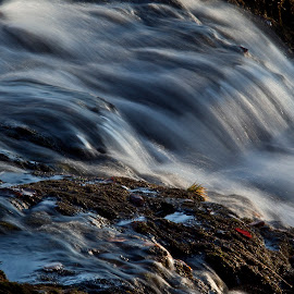 Rush by Ian Pinn - Nature Up Close Water ( scotland, winter, cold, waterfall, mull, flow, fast )
