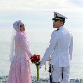 We Together by Iz Fotografi Art Works - Wedding Bride & Groom ( malaysian, malay wedding, malaysia traditonal wedding, male, malay, iz fotografi, malaysia wedding photographer, malaysia, malaysian wedding )