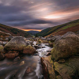 Vale of Glendasan by Piotr Dominiak - Landscapes Sunsets & Sunrises ( wicklow mountains, ireland, wicklow gap, glendasan valley, sunrise, piotr dominiak )