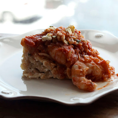 Greek Spiced Baked Shrimp & Creamy Orzo