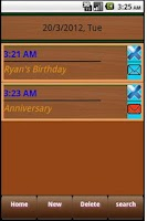 Screenshot of My Diary & Events