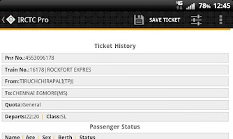 Screenshot of IRCTC Pro