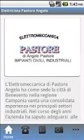 Screenshot of Elettricista Pastore Angelo