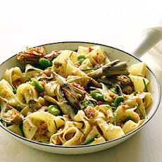 Artichoke and Fava Pappardelle