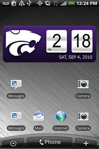 Kansas State Wildcats Clock