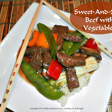 Sweet-And-Sour Beef with Vegetables
