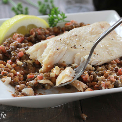 Grilled Mahi Mahi with Lentils