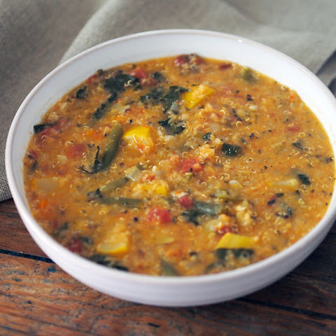 Fresh Vegetable Soup with Lentils & Quinoa