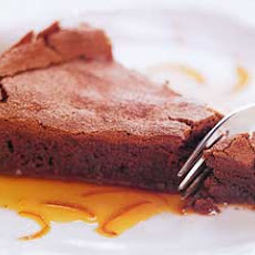 Chocolate Soufflé Cake with Orange Caramel Sauce