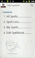 Screenshot of Spellbook - Pathfinder