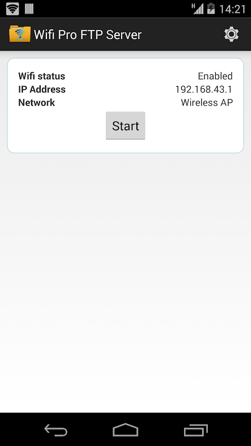 WiFi Pro FTP Server Screenshot 1