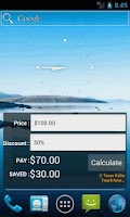 Screenshot of Discount Calculator Widget