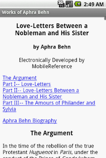 Works of Aphra Behn - screenshot