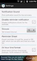 Screenshot of Rx Medicine Reminder