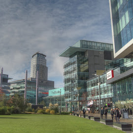 Media City TV Studios, Salford by Simon Sweetman - Buildings & Architecture Office Buildings & Hotels ( studio, tv, itv, salford, bbc )