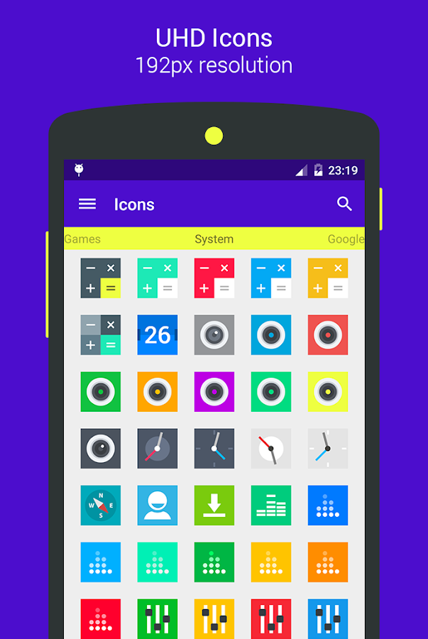 Goolors Square - icon pack Screenshot 10