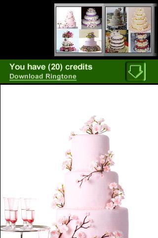 美しいウエディングケーキ