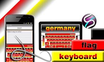 Screenshot of SlideIT Germany flag skin