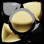 App Next Launcher Theme black gold APK for Kindle