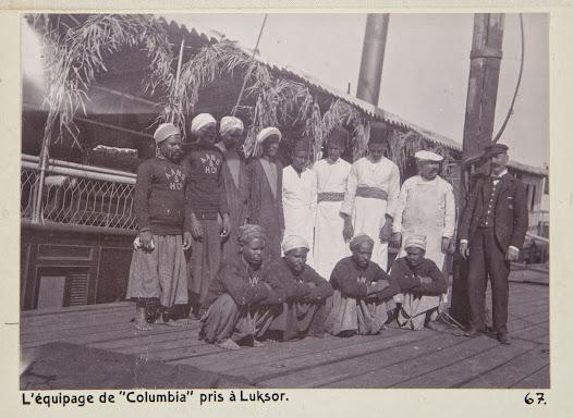 Besättningen på ångfartyget Columbia.