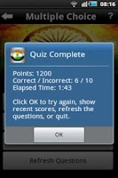 Screenshot of India Quiz Game