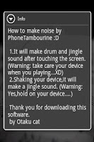Screenshot of PhoneTambourine