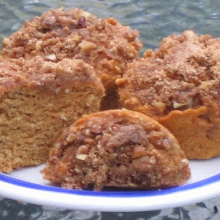 Pumpkin Muffins with Pecan Streusel Topping