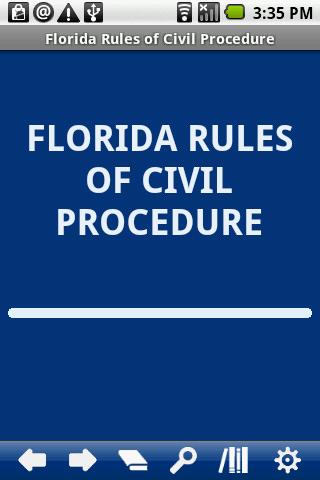 Florida Rules Civil Procedure