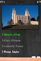 Screenshot of LDS Temples Quiz