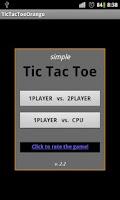 Screenshot of Simple TicTacToe Orange FREE!