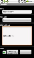 Screenshot of Regina to-do list