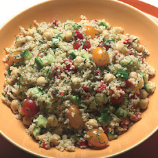 Bulgur, Garbanzo Bean, and Cucumber Salad