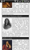 Screenshot of Les citations de Moliere