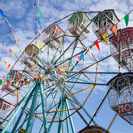Ferris wheel in festival by iPhotoIndy Studioo - Artistic Objects Toys ( ferris, wheel, iphotoindy, thailand, korat, thai, festival, enjoy, fun, fest, ferris wheel )