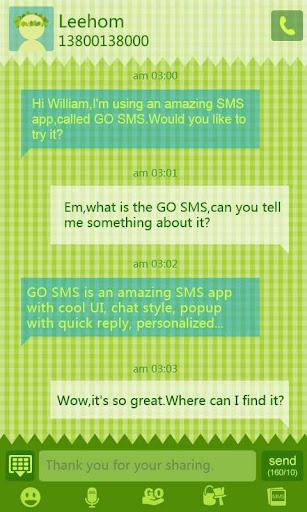 GO短信野餐主题