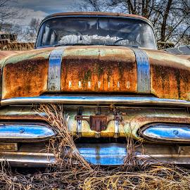 Pontiac by Adam Johnson - Transportation Automobiles ( decaying, field car, pontiac )
