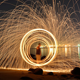 by Steven Hee - Abstract Fire & Fireworks ( firedance, night, man, fire )