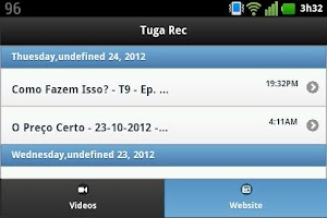 Screenshot of Tuga Rec