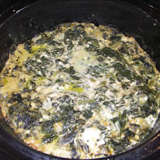 Crock Pot Cheesy Spinach Casserole