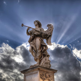angel by Hoai Nguyen - Buildings & Architecture Statues & Monuments ( rome, amgel, italy,  )